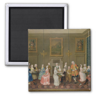 Tea Party at Lord Harrington's House, St. James's 2 Inch Square Magnet