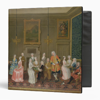 Tea Party at Lord Harrington's House, St. James's 3 Ring Binder
