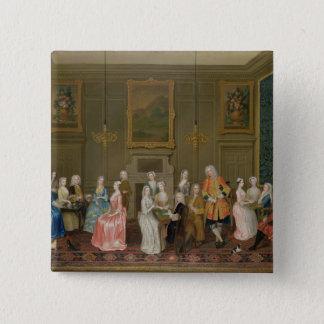 Tea Party at Lord Harrington's House, St. James's Button