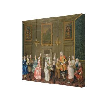 Tea Party at Lord Harrington's House, St. James's Canvas Print