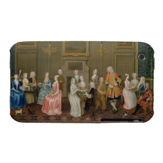 Tea Party at Lord Harrington's House, St. James's iPhone 3 Case-Mate Cases