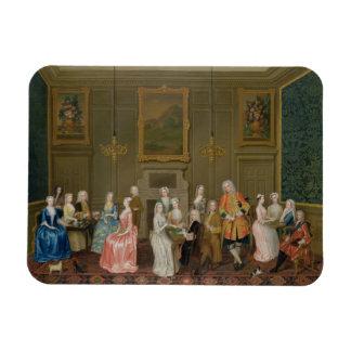 Tea Party at Lord Harrington's House, St. James's Rectangular Photo Magnet