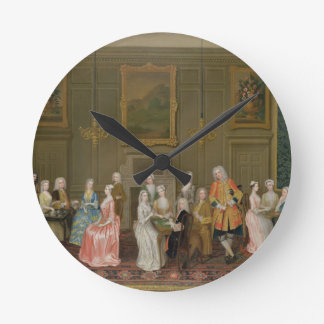 Tea Party at Lord Harrington's House, St. James's Round Clock
