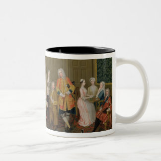 Tea Party at Lord Harrington's House, St. James's Two-Tone Coffee Mug