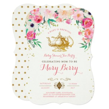 Toddler & Baby themed Tea Party Baby Shower Invitation