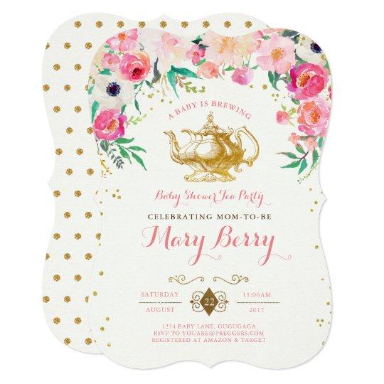 Superior Tea Party Baby Shower Invitation