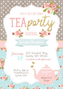Save 60 on tea party baby shower invitations limited time only tea party baby shower invitation filmwisefo