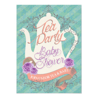 Tea Party Baby Shower Invite