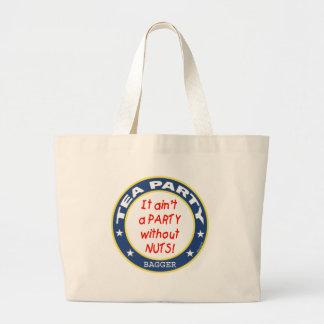 Tea Party Bagger Canvas Bags