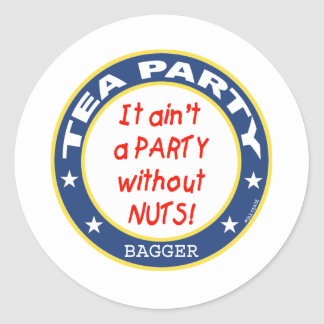 Tea Party Bagger Classic Round Sticker