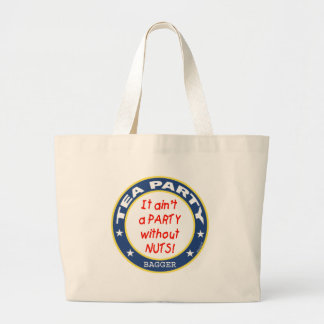 Tea Party Bagger Large Tote Bag