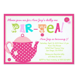 Tea Party Birthday Invitations & Announcements | Zazzle