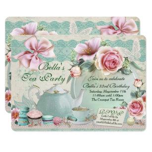 tea birthday invitations zazzle