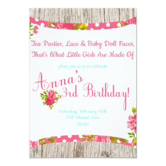 tea party birthday invitations which you need