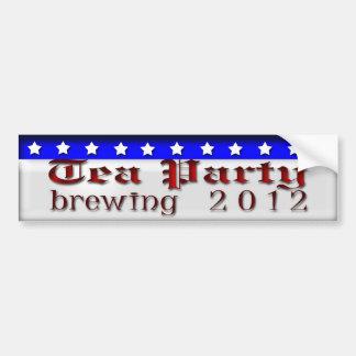 Tea Party Brewing Car Bumper Sticker