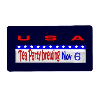 Tea Party Brewing Label
