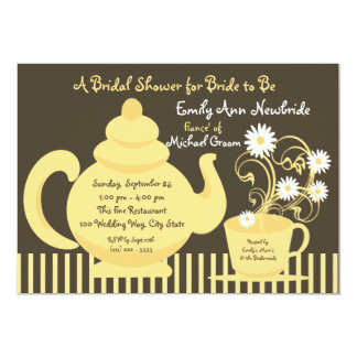 Tea Party Bridal Shower Card