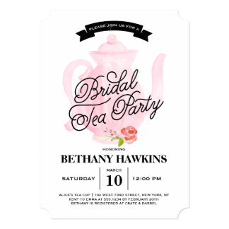 Tea Party | Bridal Shower Card