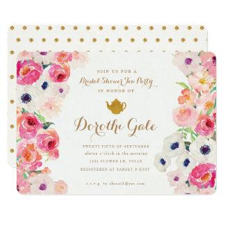 Bridal Shower Tea Party Invitations & Announcements | Zazzle