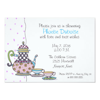 Tea Party - Bridal Shower - invitation