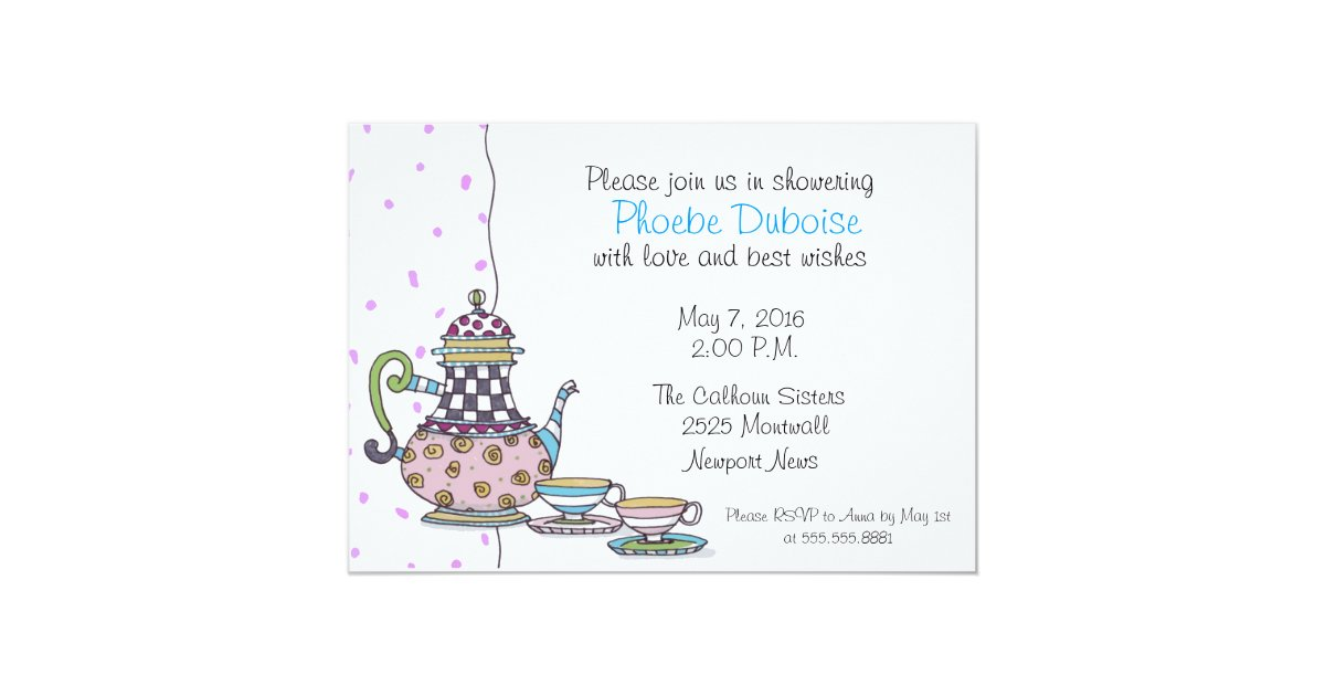 Tea Party - Bridal Shower - invitation | Zazzle.com