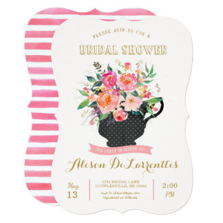 Kitchen tea invitations announcements zazzle for Bridal shower kitchen tea ideas fashion