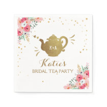 Tea party Bridal shower Paper Napkins Bridal tea