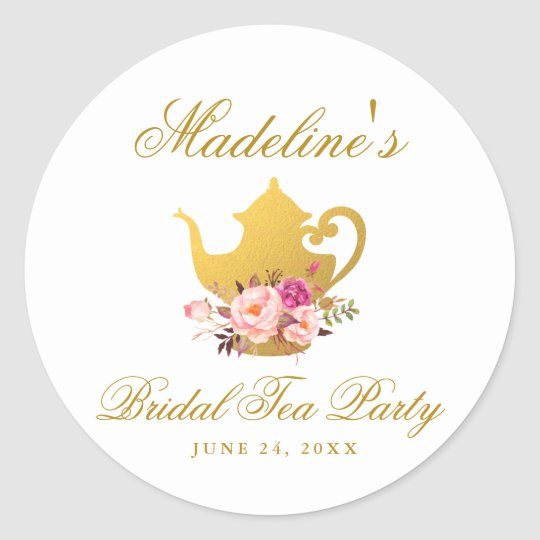 b882396e4 Pastel Spring Floral Wreath Bridal Shower Stamp Classic Round ...