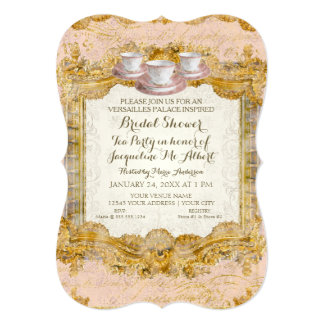 Tea Party Bridal Shower Royal Versailles Palace Card