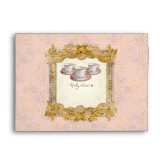 Tea Party Bridal Shower Royal Versailles Palace Envelope