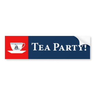 Tea Party! bumpersticker