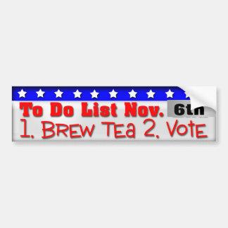 Tea Party Car Bumper Sticker