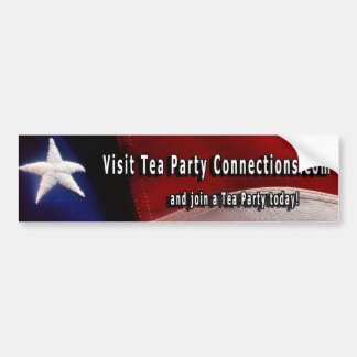 Tea Party Bumper Sticker Car Bumper Sticker