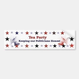 Tea Party Bumper Sticker Political Gear