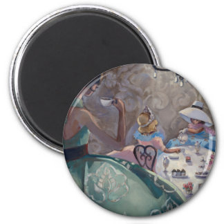 Tea Party by Trish Biddle 2 Inch Round Magnet