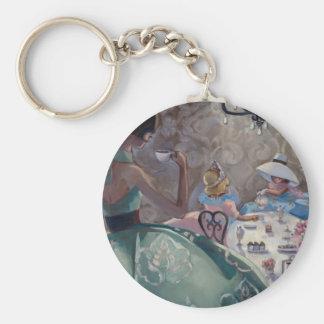 Tea Party by Trish Biddle Basic Round Button Keychain