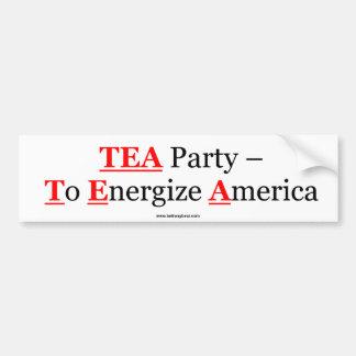TEA Party - Car Bumper Sticker