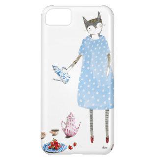 Tea Party Cat in a Karen Walker Dress Case For iPhone 5C