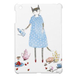 Tea Party Cat in a Karen Walker Dress iPad Mini Cases