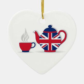Tea Party Ceramic Ornament