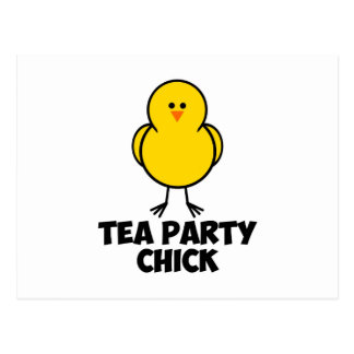Tea Party Chick Postcard