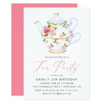 Tea Party Children's Birthday Party Invitation