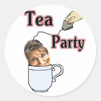 Tea Party Classic Round Sticker