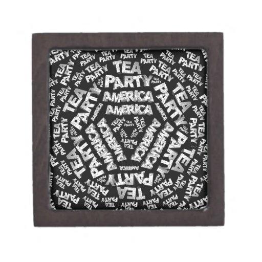 Tea Party Collage Premium Keepsake Boxes