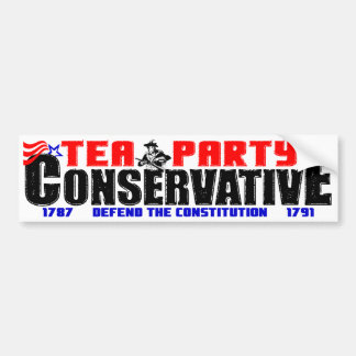 Tea Party Conservative Bumper Sticker