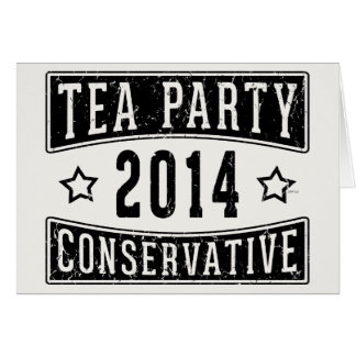 Tea Party Conservative Card