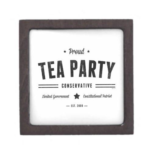 Tea Party Conservative Premium Trinket Boxes
