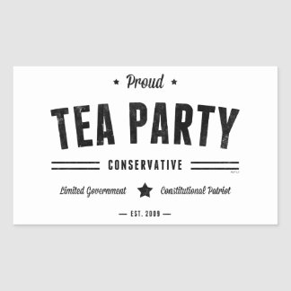 Tea Party Conservative Rectangle Sticker