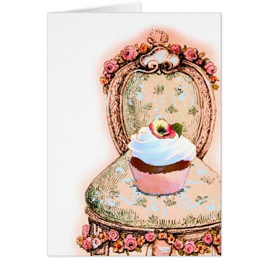 Tea Party Cupcake Design Card