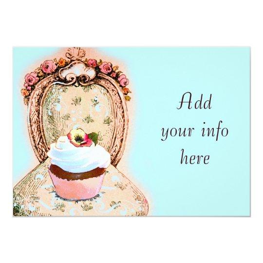 Tea Party Cupcake Victorian Invitation